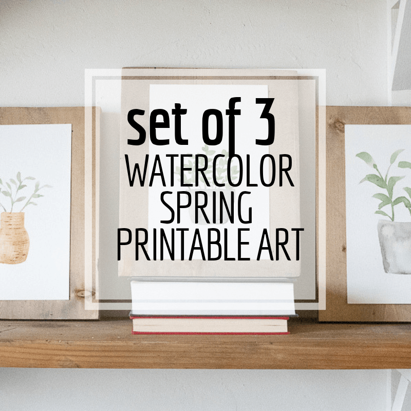 FREE Spring Inspired Hand Painted Watercolor Plant Printables