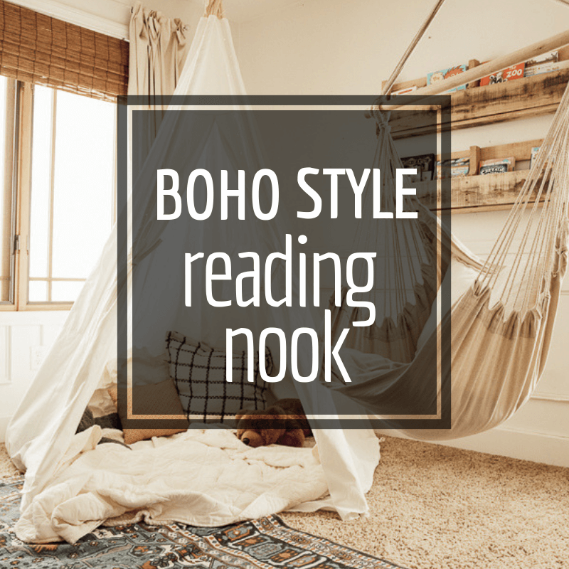 Boho Farmhouse Style Girls Reading Nook Ideas