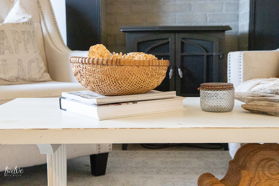 Modern farmhouse coffee table styling ideas, tips, and tricks