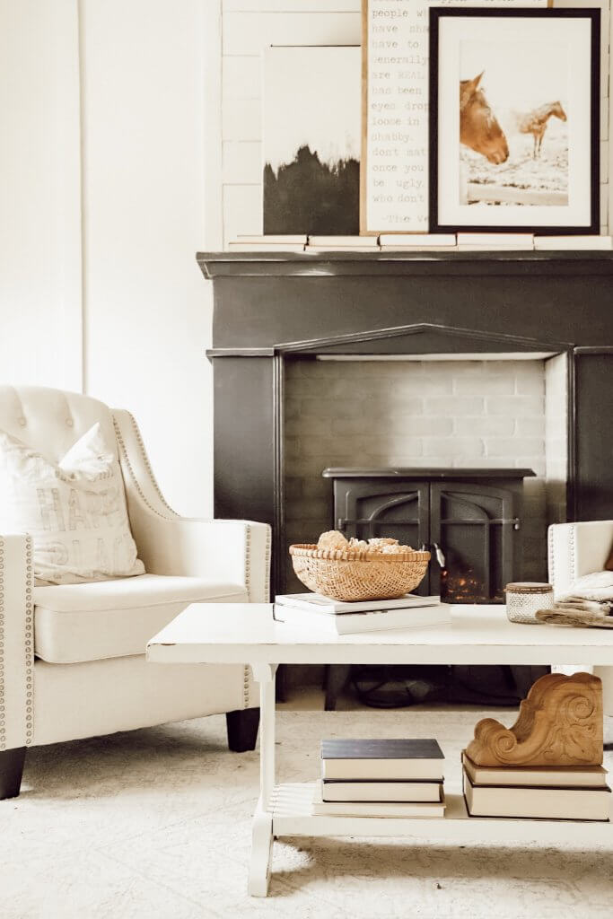 Love that fireplace! Check out how to distress furniture just like this with helpful tips and tutorials!