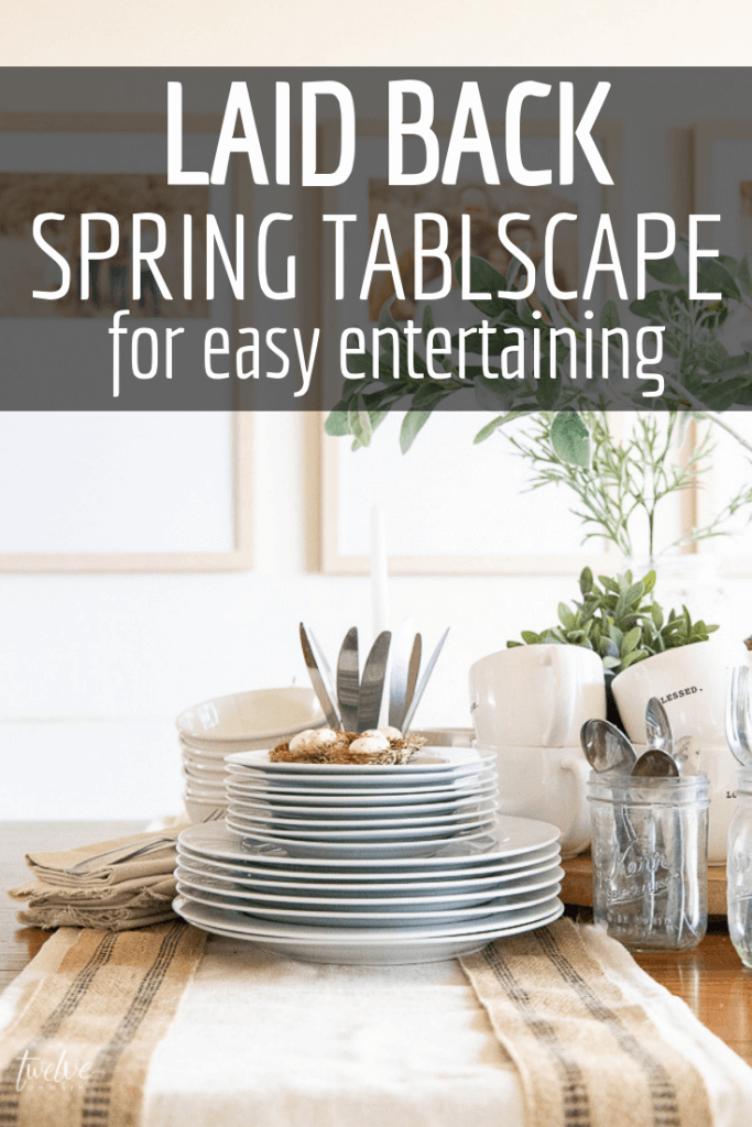 Check out these great entertaining tips and check out my favorite go-to laid back tablescape idea that is stylish and functional at the same time!