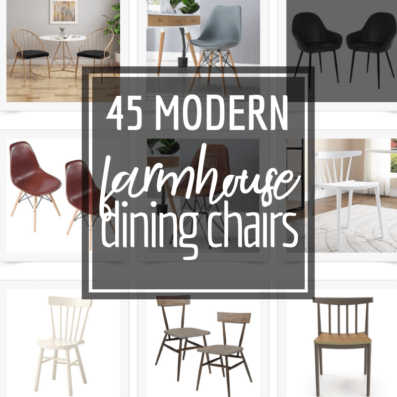 Over 40 of the most stylish modern farmhouse dining chairs I could find!  Check them all out here!