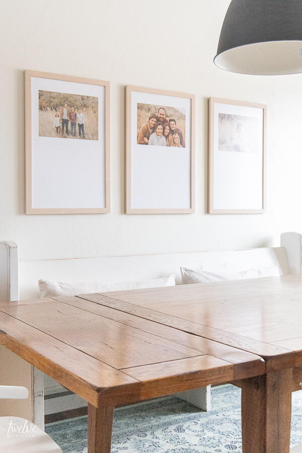 I love the way there custom framed pieces of art from Frame It Easy turned out!  So easy to create and effortless!