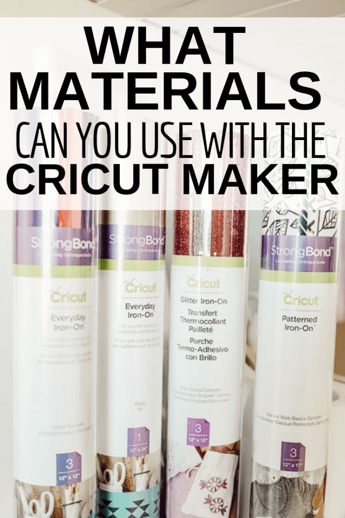 What materials can you use with the Cricut Maker? Keep reading to see a detailed list of all the Cricut Maker materials!