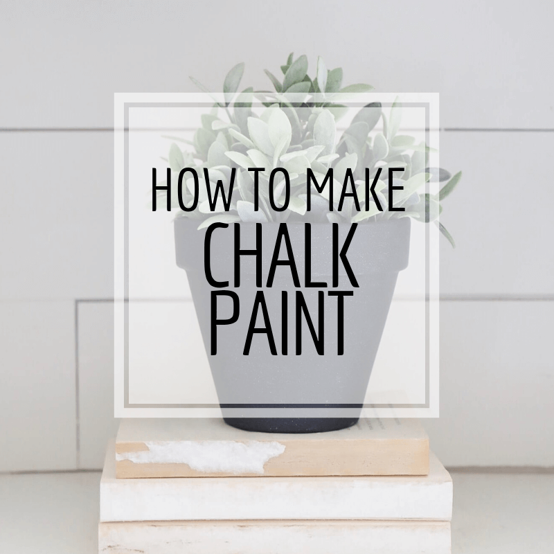 How to Make Chalk Paint with 3 Household Items