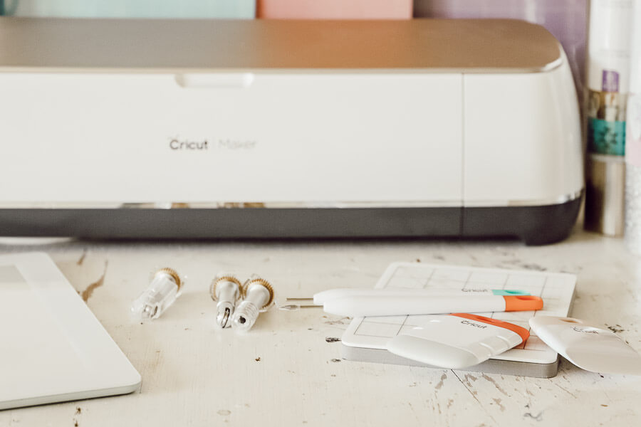 The new Cricut Maker machine in rose gold is pretty and so very fun to use!