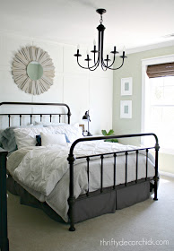 Gorgeous wrought iron bed!
