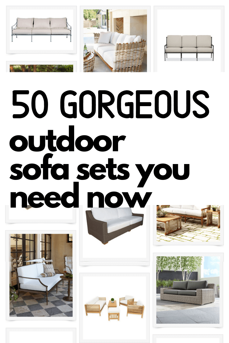 50 Gorgeous and Cozy Outdoor Sofas Perfect for Your Patio