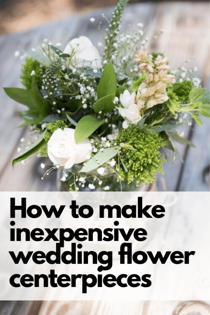 How to make inexpensive wedding flower centerpieces easily!  So easy to do and it will save you tons of money!