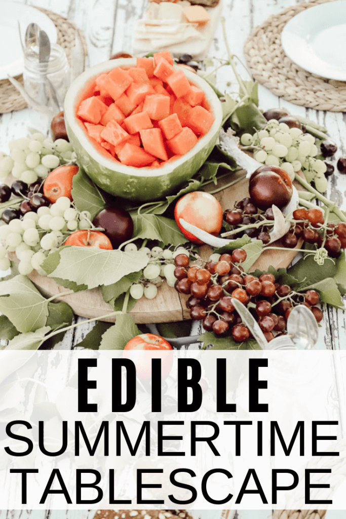 Edible summer tablescape