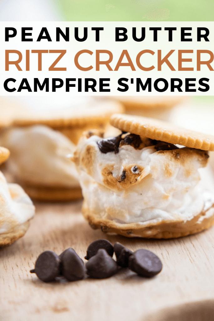Peanut butter ritz cracker smores recipe
