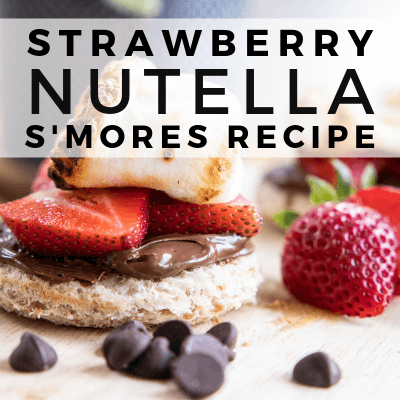 Easy to Make Strawberry Nutella S'mores Recipe