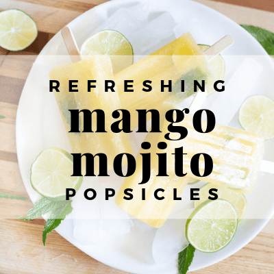 Homemade Mango Mojito Popsicles that are Kid and Adult Friendly