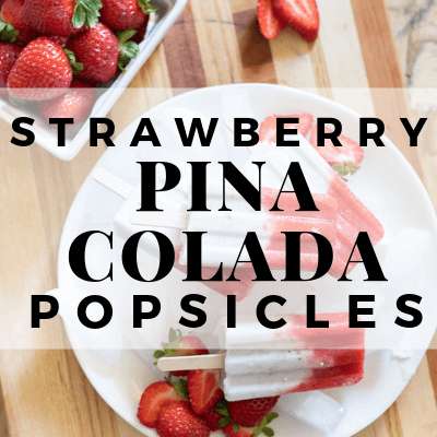 Strawberry Pina Colada Popsicle
