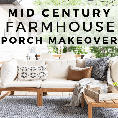 Mid Century Farmhouse Outdoor Decor Ideas With A Boho Twist | My Patio Reveal