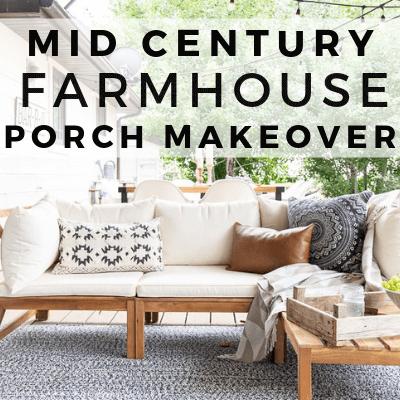 Mid Century Farmhouse Outdoor Decor, Farmhouse Patio Furniture