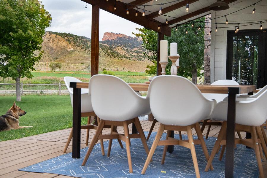 Mid century farmhouse patio furniture and decor
