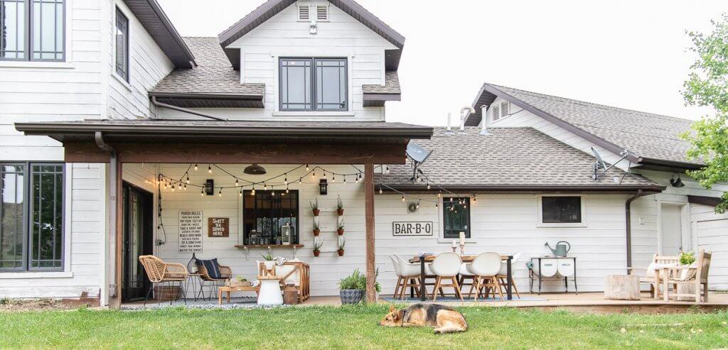 Boho farmhouse porch decor