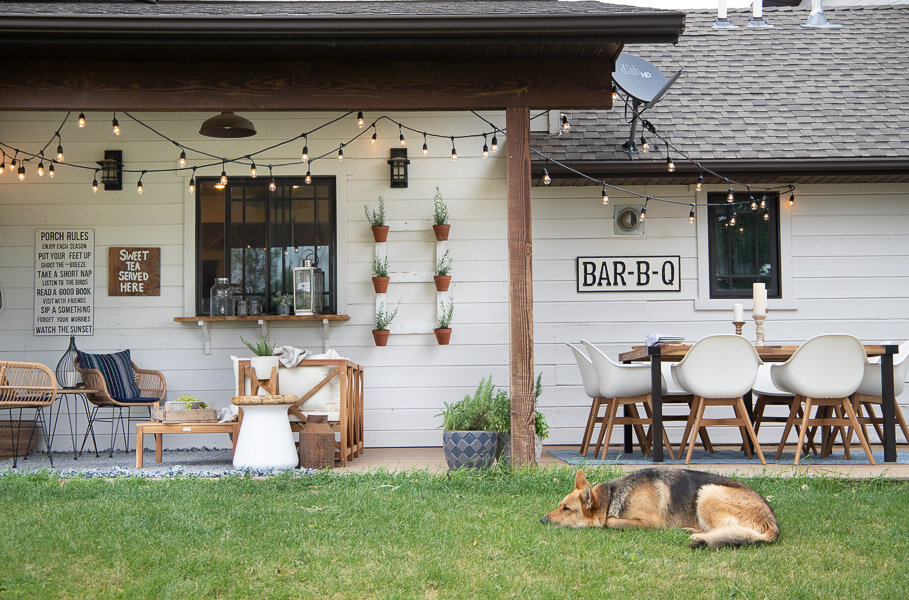 Boho farmhouse porch decor
