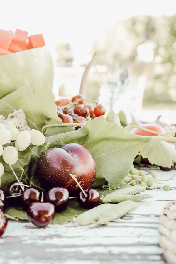 Edible summer centerpiece
