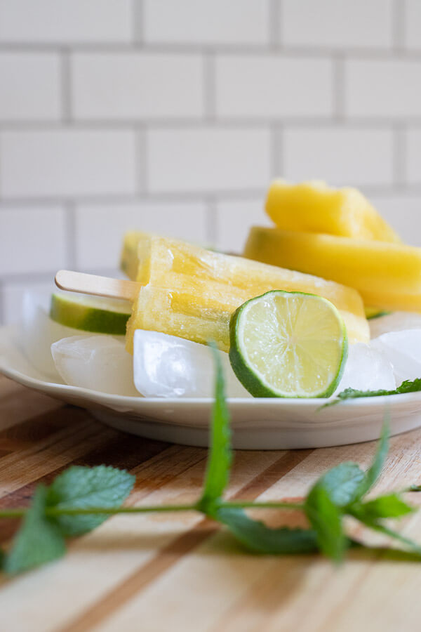 Mango mojito popsicles for all ages!