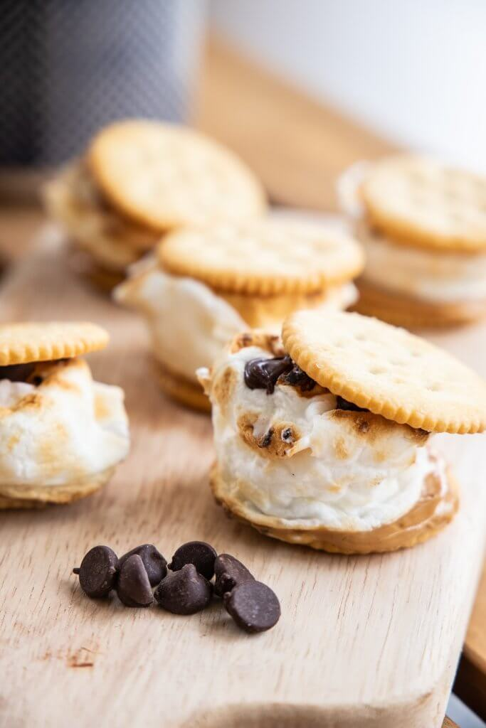 Peanut butter and ritz cracker smores