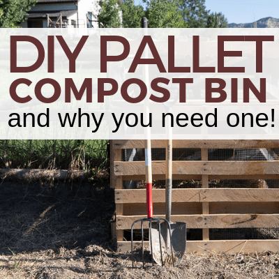Super Easy Pallet Compost Bin DIY