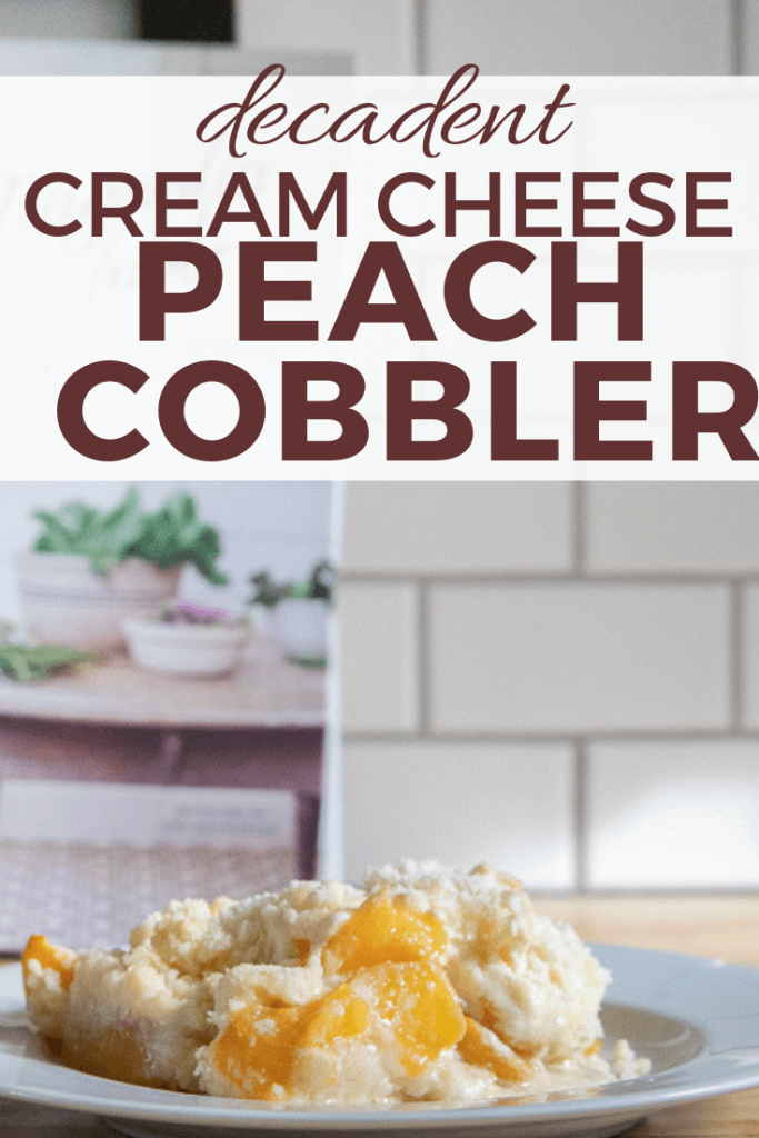 The ultimate combination of tart peaches, tangy cream cheese, and sweet white cake. This cream cheese peach cobbler is so delicious and easy to make!