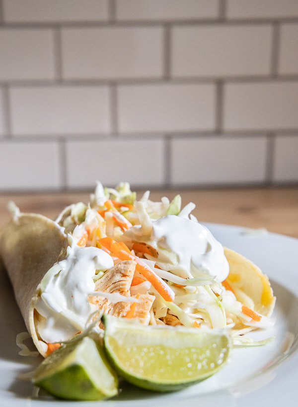 Have an Instapot?  Make these deliciously easy chicken tacos with zesty slaw. You probably already have everything in your kitchen for them already!
