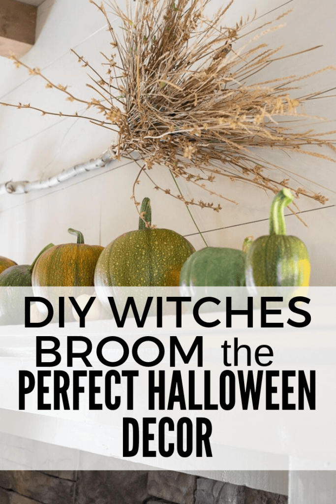 How to make a spooky witches broom out of items right in your own backyard! These are so fun to add to your Halloween decor!