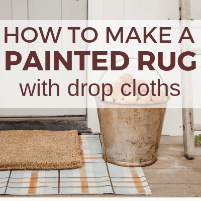 DIY Drop Cloth Rug for Every Season