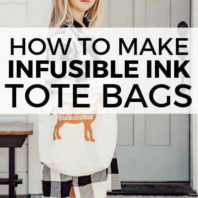 Cute Canvas Tote Bag Ideas with Cricut Infusible Ink