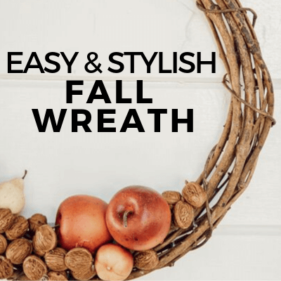 Simple and Stylish DIY Wreath for Fall