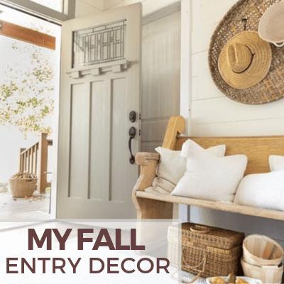 Simple Harvest Fall Decor Ideas for the Entryway