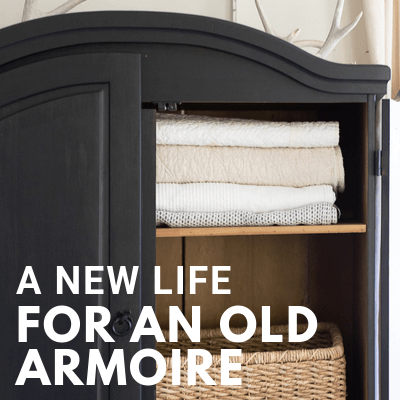 A New Look, Our New Black Armoire!