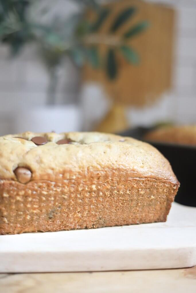 Banana bread with chocolate chips is one of my most favorite treats! Make some now with this easy recipe!