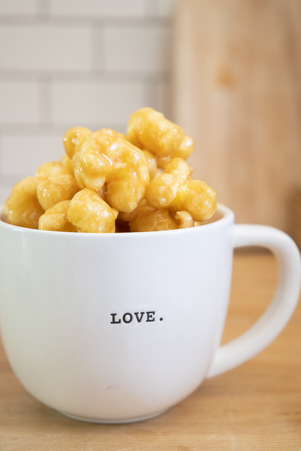 Soft and Chewy Caramel Puffed Corn Recipe