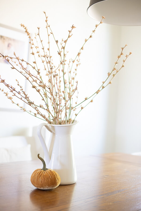 Simple and cozy fall decor at home