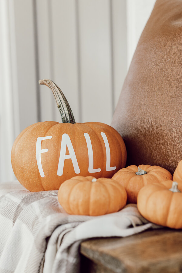 How to use your Cricut Maker to create custom vinyl decals that you can use on your pumpkins for the fall! Such fun ways to customize and create unique Halloween and fall decor.