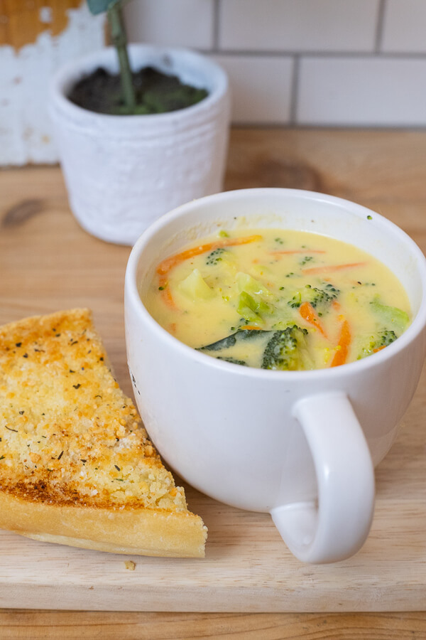 The most delicious broccoli cheese soup recipe you will ever try! With a few key ingredients this goes from plain old soup to the most amazing, soup with a zip!