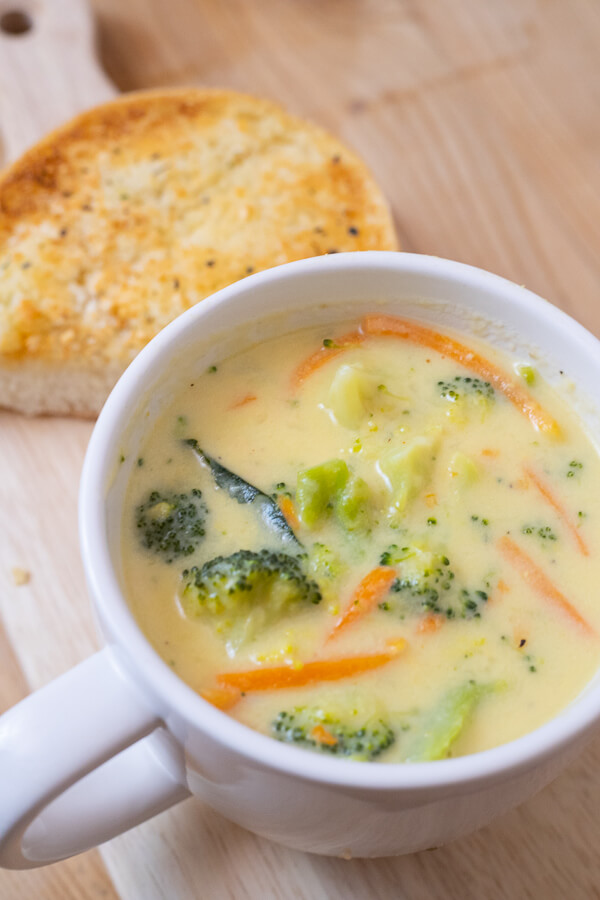 The most delicious recipe for broccoli cheese soup you will ever try! With a few key ingredients this goes from plain old soup to the most amazing, soup with a zip!