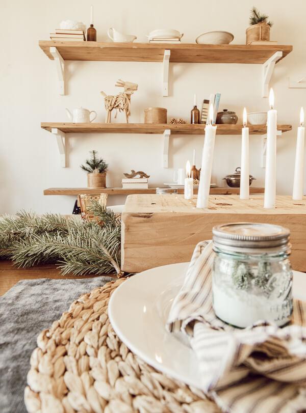 Scandinavian Christmas dining room ideas