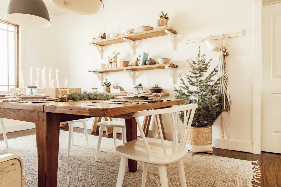Scandinavian Christmas dining room ideas