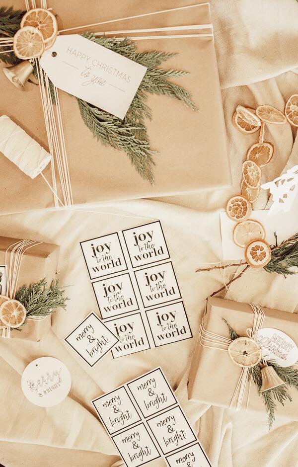 Scandinavian Christmas gift decor ideas.