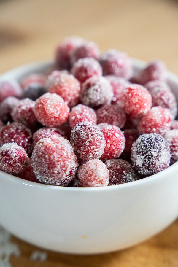 How to make amazing sugared cranberries!