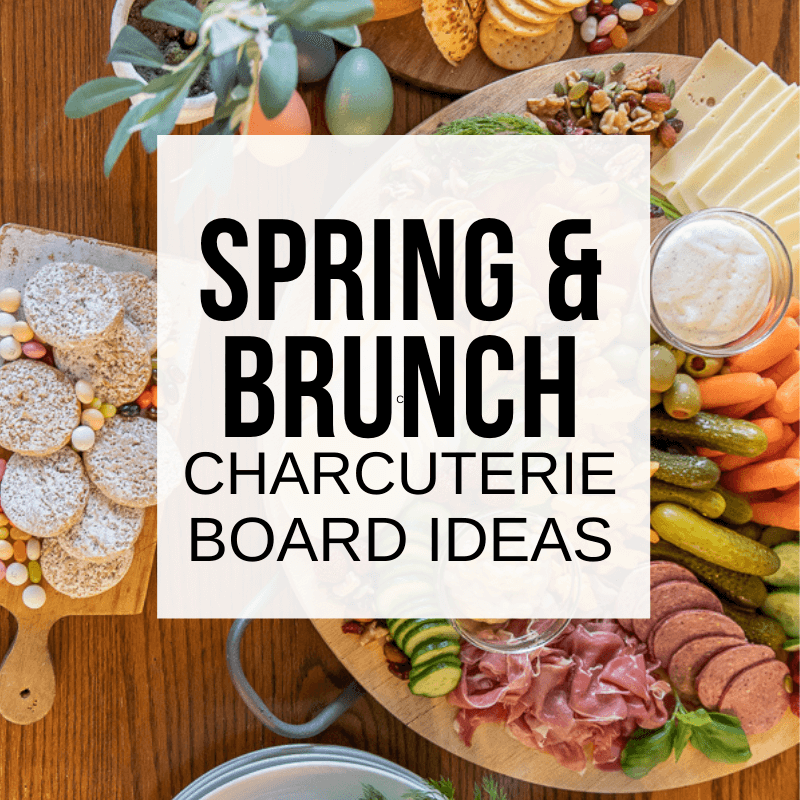 Spring Inspired Bagel and Brunch Charcuterie Board
