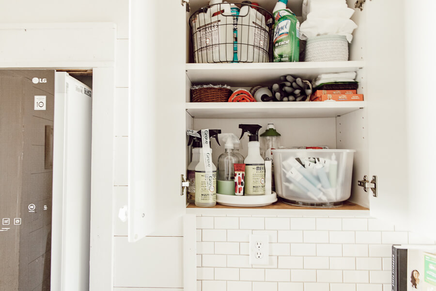 How to organize a cleaning cabinet to keep it functional, as well as organized. It makes such a big difference when things have a place.