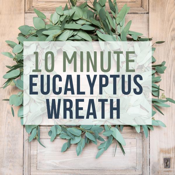 How to Make a Eucalyptus Wreath for Spring!