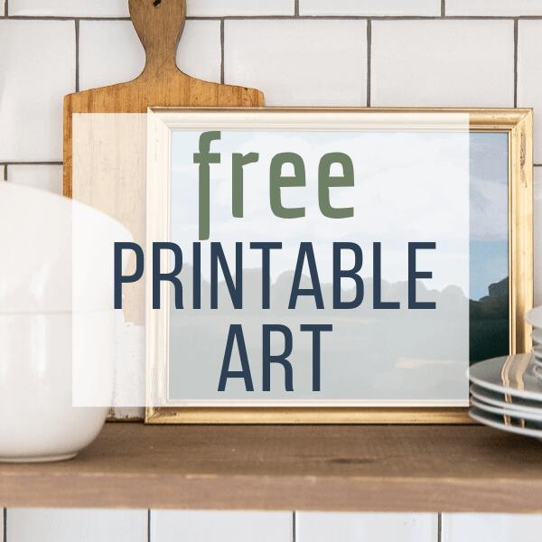 FREE Spring Printable Landscape Art