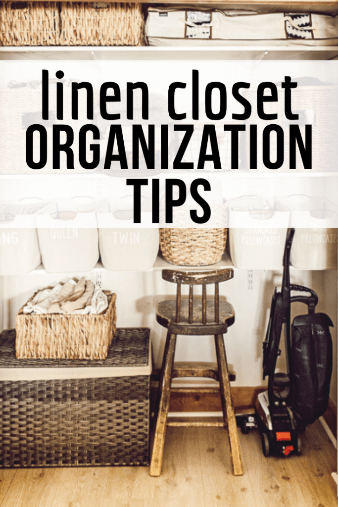 Organize your linen closet like a pro and keep it clean for a long time with these linen closet organization tips!